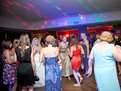 Party crowd scene by Rockbox Roadshow of Caldicot