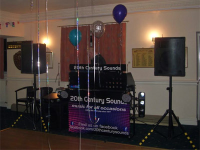 Disco equipment scene by 20th Century Sounds of Bacup
