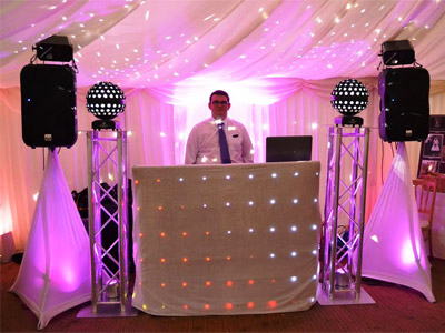 Disco equipment scene by Euphorix Mobile Disco of Bristol