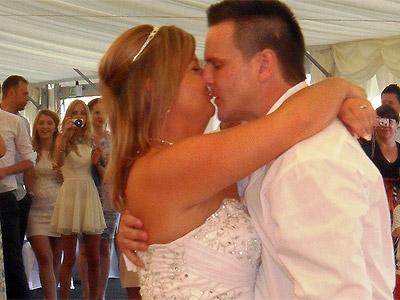 Wedding disco first dance scene by Euphorix Mobile Disco of Bristol