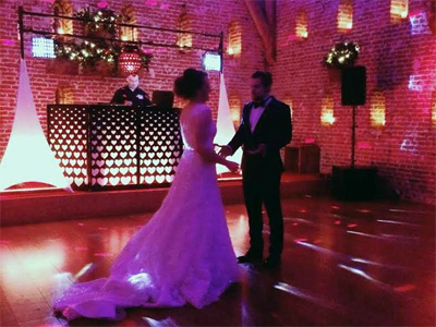 Wedding disco first dance scene by D & H Entertainment of Southrepps