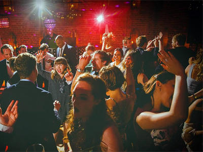 Party crowd scene by D & H Entertainment of Southrepps