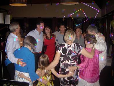 Infiniti Disco wedding DJ crowd scene